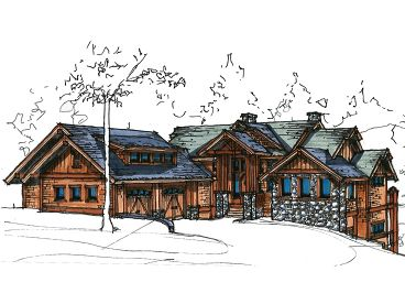 Mountain House Plan, 025H-0194