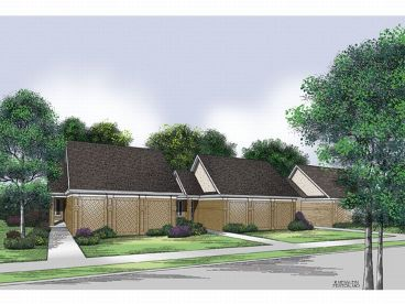 Narrow Lot House Plan, 021H-0046