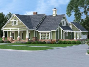 Two-Story House Plan, 021H-0262