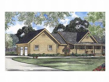 Log Home Plan, 025L-0003