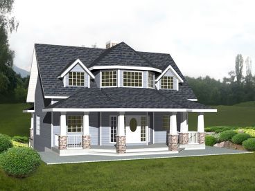 Unique Two-Story Home Plan, 012H-0213