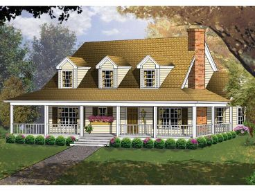 Country House Plan, 015H-0009