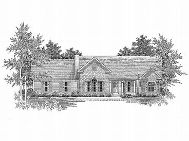 One-Story Home Plan, 019H-0019