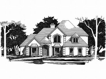 European House Plan, 036H-0022