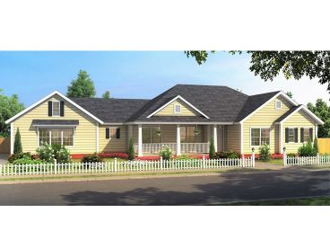 Traditional Ranch House Plan, 059H-0224