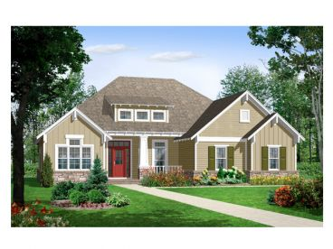Craftsman House Plan, 001H-0045