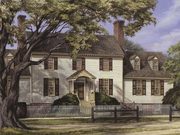Colonial House Plan, 063H-0142
