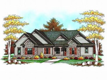 Ranch House Design, 020H-0186