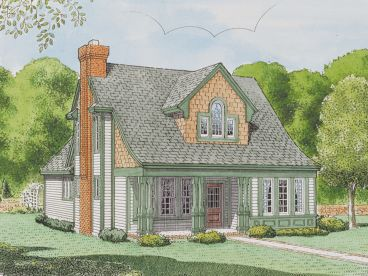 2 Story House Plan, 054H-0070