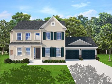 Two-Story House Plan, 064H-0104