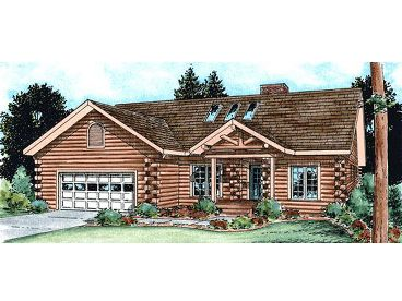 Log House Plan, 031H-0017