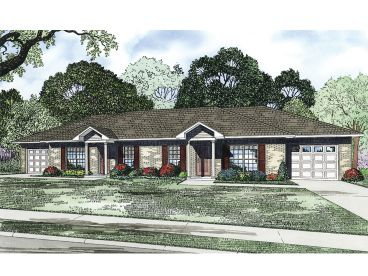 Duplex Home Plan, 025M-0085