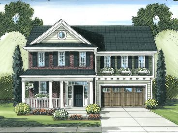 Two-Story House Plan, 046H-0050
