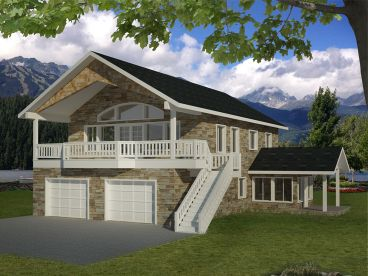 Garage Apartment Plan, 012G-0087