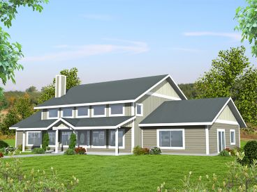 Two-Story Country House Plan, 012H-0256