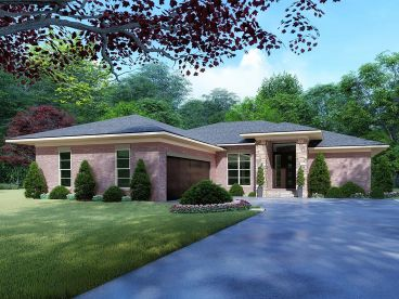 Contemporary House Plan, 074H-0093