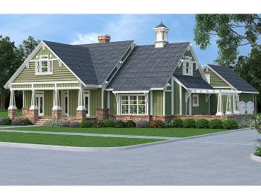 Craftsman House Plan, 021H-0246