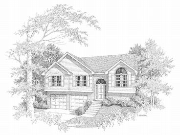 Split-Level Home Plan, 019H-0087