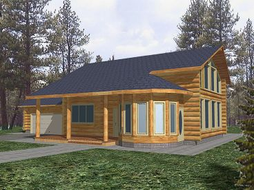 Log Home Plan, 012L-0052