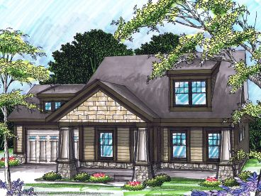 Bungalow House Plan, 020H-0231