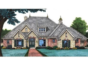 European House Plan, 002H-0056