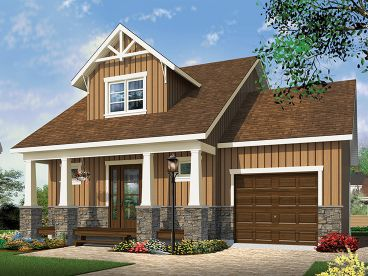 Bungalow House Plan, 027H-0403