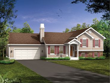 Split-Level House Plan, 032H-0068