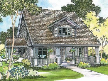 Bungalow Home Design, 051H-0027
