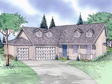 Two-Story House Plan, 009H-0030