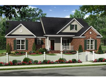 Ranch Home Design, 001H-0121