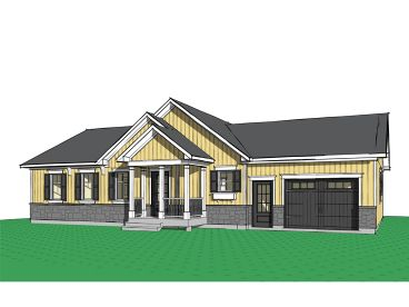 Empty-Nester House Plan, 027H-0415