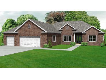 Ranch House Plan, 048H-0009