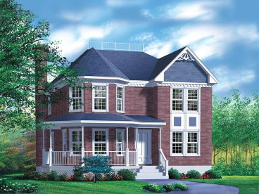 Victorian House Plan, 072H-0029
