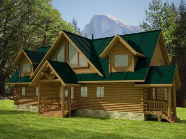 Waterfront Log Home, 012L-0075