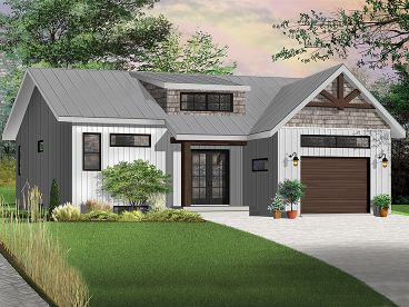 Page 7 of 13 bungalow house plans the house plan shop for Transitional home plans