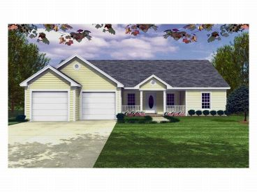 Ranch House Plan, 001H-0020