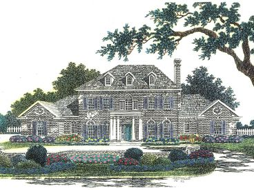 Colonial Home Plan, 002H-0063