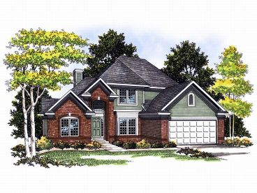 Traditional House Design, 020H-0050