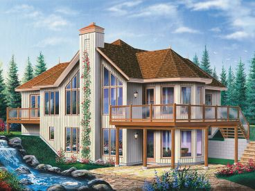 Sloping-Lot House Plan, 027H-0291