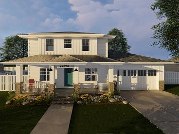Two-Story Home Plan, 050H-0128