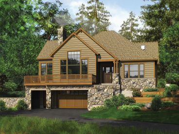 Sloping Lot House Plan, 034H-0300