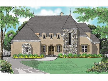 European House Plan, 029H-0053