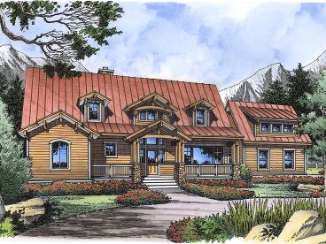 Country Craftsman Home, 043H-0248