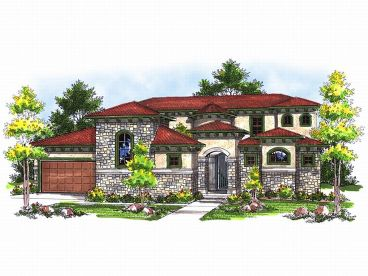 Mediterranean Home Plan, 020H-0118
