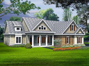 Ranch Home Plan, 019H-0154