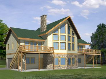 Mountain Home Plan, 012H-0091