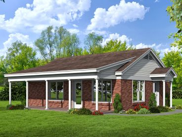 Cottage House Plan, 062H-0104