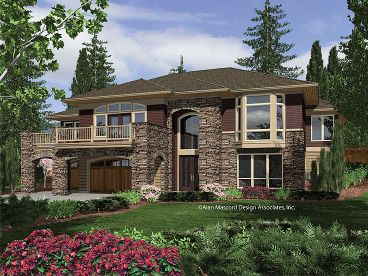 Contemporary Home Plan, 034H-0083