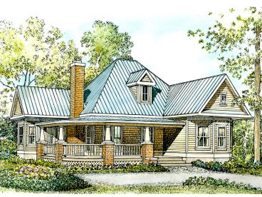 Ranch House Plan, 008H-0002