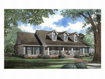 Country Home Plan, 025H-0127
